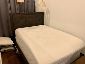 Full-sized fabric bed for Sale in Edgewater, NJ