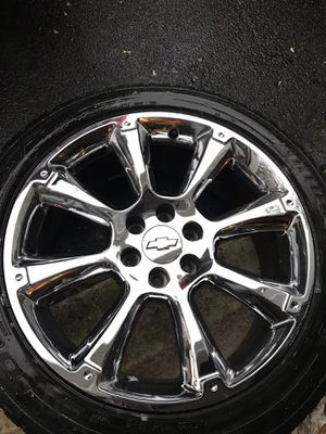 22 inch Tahoe LTZ Wheels & Tires GM OEM for Sale in Manassas, VA