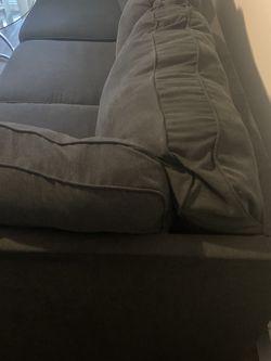 Dark Suade Blue Couch for Sale in Dallas,  TX