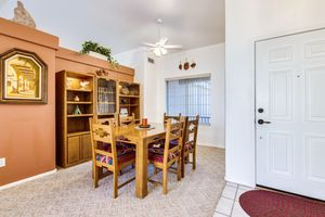 Southwest Dining table with six chairs plus 3 shelves (two have a light) for Sale in US