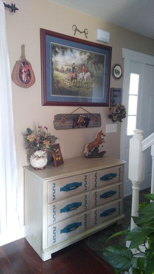 Turquoise blue dresser for Sale in Bonaparte, IA