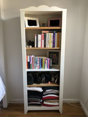 Off white wood bookcase for Sale in New York, NY