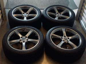 Mustang 5x114.3 Gunmetal Gray Wheels Staggered for Sale in Manassas, VA