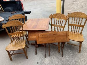 Wooden dinner table with 4 chairs for Sale in Arlington, TX