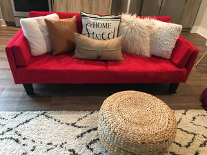 Midcentury Modern Red Sofa WITH Pillows!! for Sale in Atlanta, GA