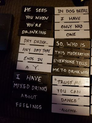 Comedic Sarcastic drink cup beer glass coasters for Sale in Lake Arrowhead, CA