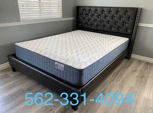 💥Brand New Expresso Queen Button Tufted Beded with Orthopedic Supreme Mattress included 💥 for Sale in Fresno, CA