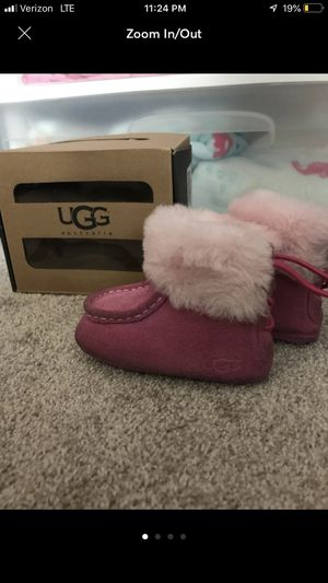 Baby girl pink ugg boots for Sale in Chester, VA