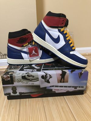 Jordan 1 Retro High Union Los Angeles Blue Toe - Size 10.5 for Sale in Fairfax, VA