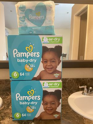 Pampers size 6 diapers and wipes bundle for Sale in Fontana, CA
