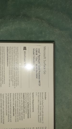 Microsoft surface go Windows 10S 128GB for Sale in Mesquite, TX