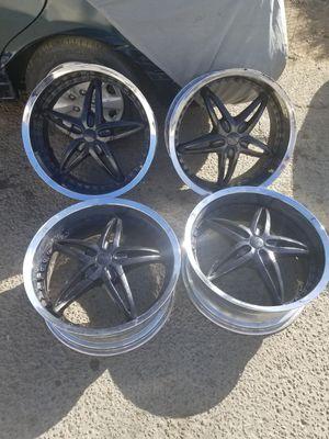 20 Inch Chrome & Black Rims for Sale in Vallejo, CA