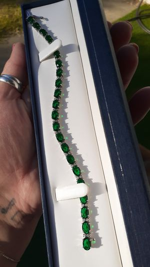 Emerald tennis bracelet for Sale in Escondido, CA