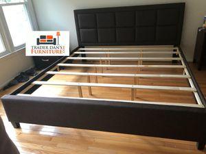 Brand New King Size Brown Linen Upholstered Platform Bed Frame for Sale in Silver Spring, MD