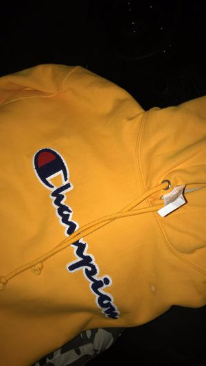 New yellow champion hoodie (Negotiable) for Sale in Cleveland, OH