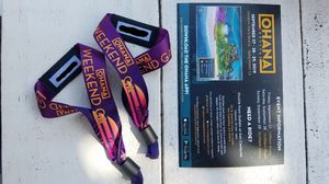 Ohana Music Festival! I have 2 wristbands & both are 3 day passes for Sale in San Diego, CA