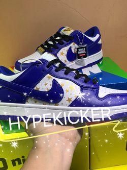 Nike Sb Dunk Low Supreme Stars Hyper Royal @4 for Sale in Brandon,  FL