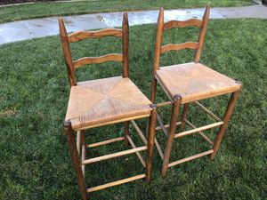 Two Wooden Bar Stools for Sale in CA, US