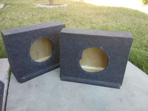 210-in solid subwoofer boxes not the cheap ones two 10-in brand new kicker subwoofers for Sale in Patterson, CA