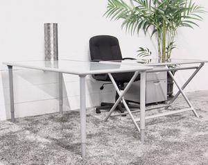 ***5PC Silver Metal IKEA Desk Set (Free Delivery) for Sale in Atlanta, GA
