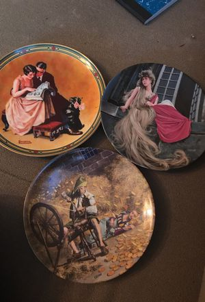3 rare decorative plate lake new for Sale in Greensboro, NC