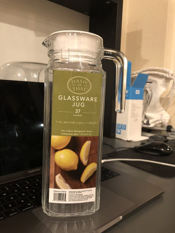 BRAND NEW Glassware Jug 37 oz