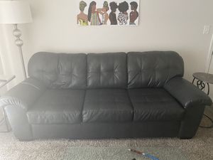 Grey Leather Couch for Sale in Nashville, TN
