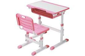 Height adjustable children's desk and chair.