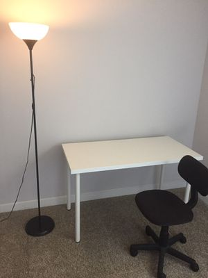 Move out sales! IKEA desk + chair + ikea lamp! for Sale in San Diego, CA
