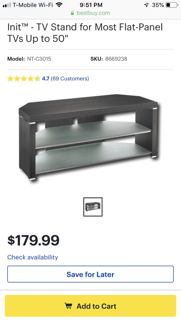 Init Tv Stand With Glass Shelves For Sale In Concord Ca Offerup
