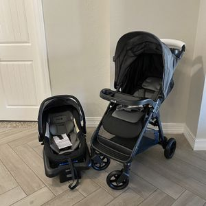 Safety 1st Smooth Ride Travel System with OnBoard 35 LT Infant Car Seat, Monument 2 for Sale in Peoria, AZ
