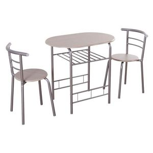 Pick up only in Parlier 3pcs Home Kitchen Bistro Pub Dining Table w/2 Chairs New not assembled for Sale in Parlier, CA