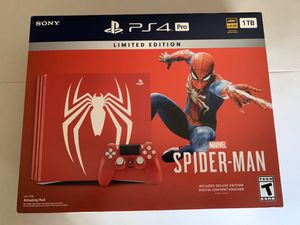 PS4 Pro Spider-Man Limited Edition 1TB for Sale in Los Angeles, CA