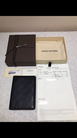 LOUIS VUITTON Damier Infini James Wallet Onyx( With Receipt✅) Bought for $730 in 2015! Pickup Only!! Serious Buyers Only!! for Sale in Lynwood, CA