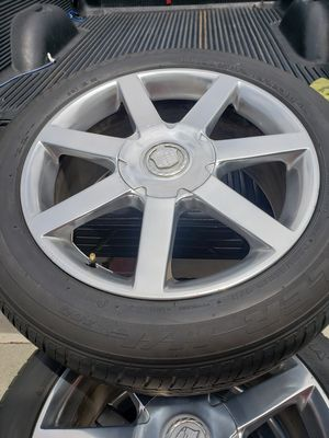 Cadillac rims and tires CTS 18in for Sale in Long Beach, CA