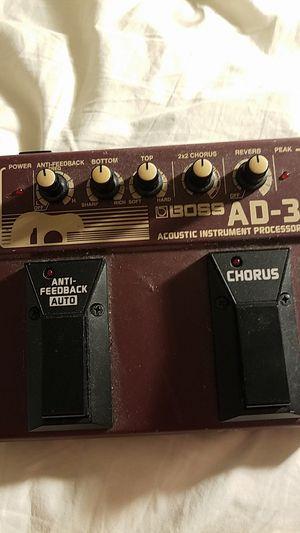 Boss AD-3 acoustic instrument processor for Sale in Pembroke Park, FL