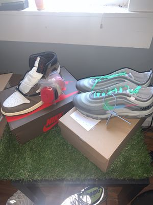 Jordan 1 Travis Scott sz 10.5 & off white menta sz 11 (DS) for Sale in New Albany, OH