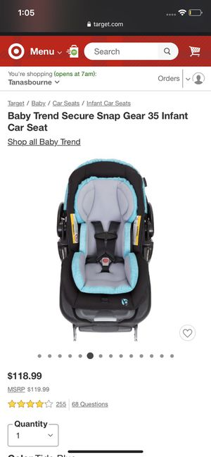 Baby trend infant car seat for Sale in Tigard, OR