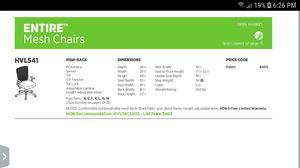 Black HON Mesh Chair for Sale in Orange, CA