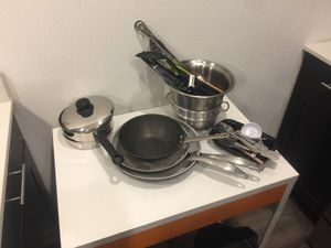All kitchen pots pans knives appliances need to go for Sale in Dallas, TX