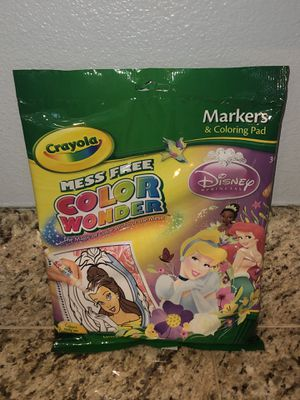 New Crayola Disney Color Wonder Book & 5 Markers for Sale in San Jacinto, CA