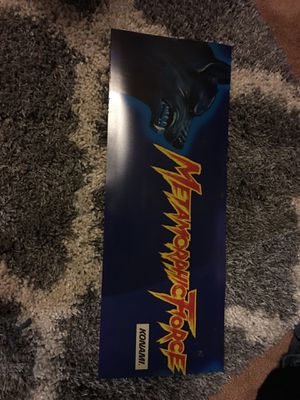 Metamorphic Force By Konami Arcade Video Game Translight Marquee for Sale in Yorba Linda, CA