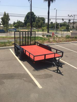 2017 (Brand New) Double Axle Utility Trailer Never been used, Pink slip in Hands for Sale in Los Angeles, CA