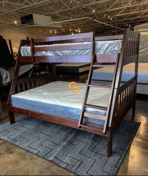 🍀🍀Rowe. Cherry Twin/Full Bunk Bed for Sale in Jessup, MD