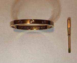 Brand new Cartier love bracelet size 17 gold bracelet for Sale in Beverly Hills, CA