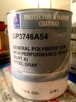 Epoxy - high performance general polymers/ part A / steel gray / 8 gallons for Sale in Seattle, WA