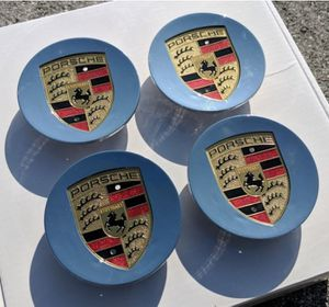 Porsche caps wheel rim center Cap 76mm 3 inch diameter BRAND NEW SET OF 4 CAYENNE CAYMAN PANAMERA BOXSTER 911 718 917 993 964 996 997 987 986 for Sale in Seal Beach, CA