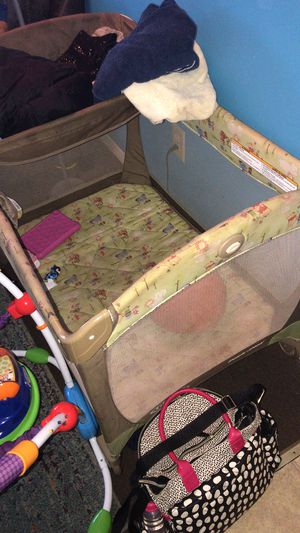 Winnie the pooh playpen with changing table connected for Sale in Richmond, VA