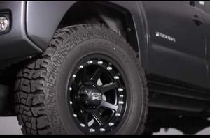 "17"" Toyota Tacoma Wheels & Tires, Includes Leveling Kit- Complete Package Start @ $1499 for Sale in Midway City, CA"