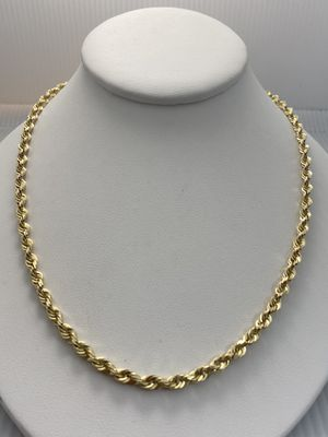 """10k 24"""" SemiHollow Yellow Gold Rope Chain for Sale in Oakbrook Terrace, IL"""